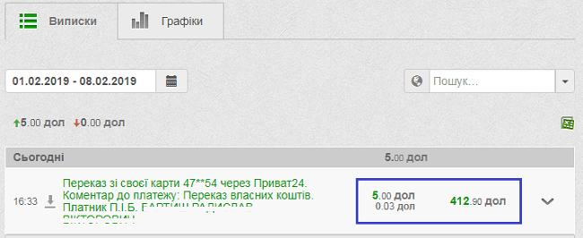 Як купити валюту в приват24